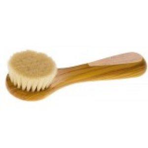 Keller Bürsten Face Brush Soft Goat Hair with Olive Wood Handle